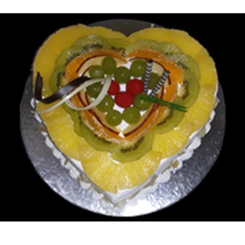 Heart Shaped Fruit Cake
