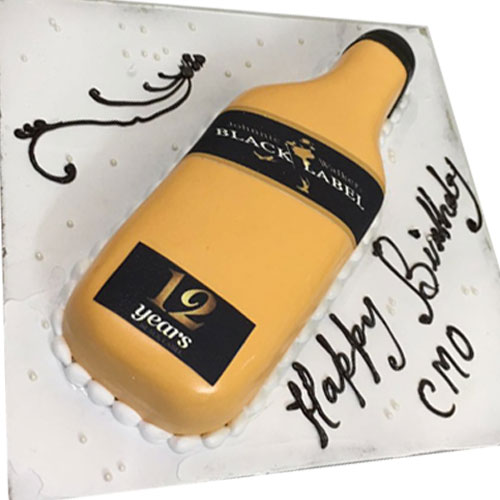 Black Label Whisky Cake