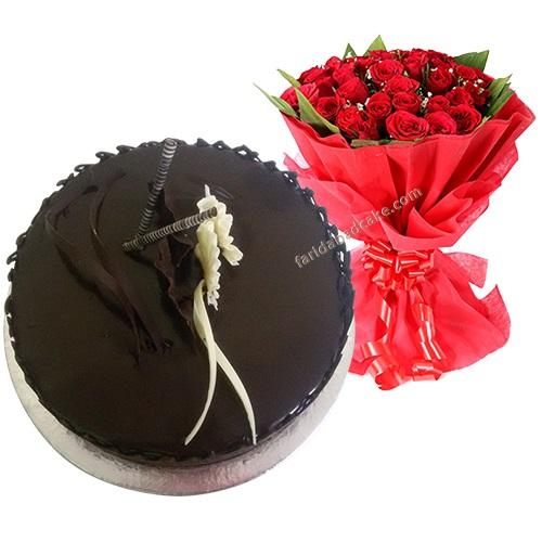 1 kg Chocolate Cake 10  Roses
