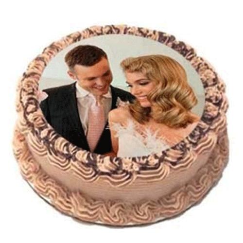 Beautiful Couple Photo Cake
