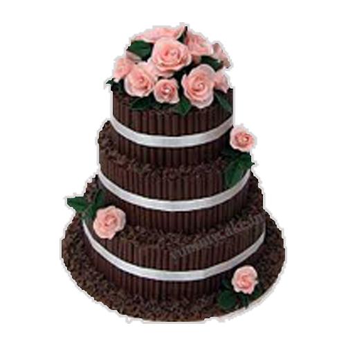 3 Tier Chocolate Anniversary Cake