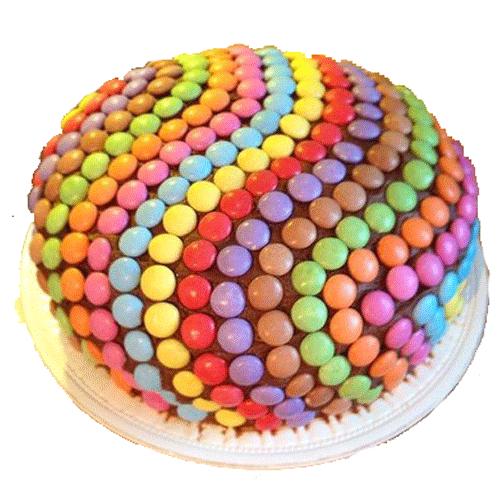 Rainbow Pinata Chocolate Cake