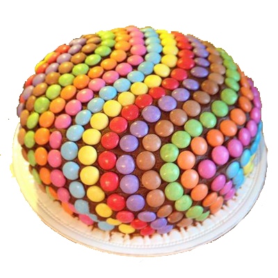Rainbow Pinata Chocolate Cake