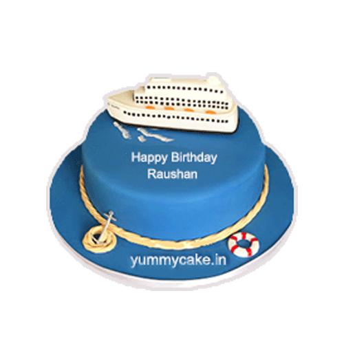 Fantastic Luxury Ship Cake Online Best Design Doorstepcake Birthday Cards Printable Inklcafe Filternl
