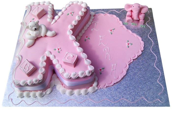 Alphabet K Cake