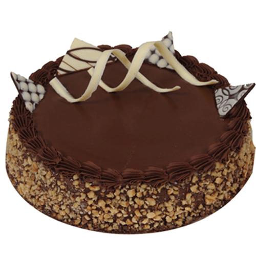Eggless Chocolate Walnut Cake