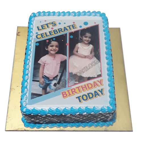 1st Birthday Photo Cake