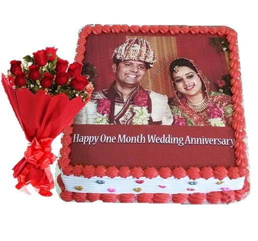 Photo Anniversary Combo Offer Cake