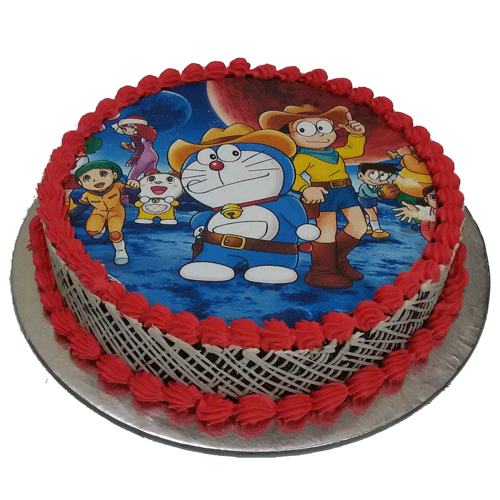 Cartoon Photo Cake