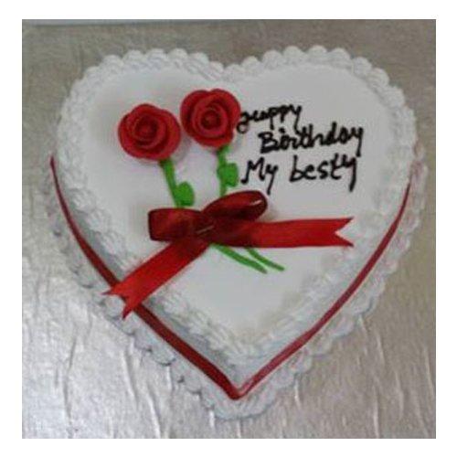 Heart Shaped Vanilla Cake 1 KG