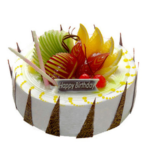 Fruit Cake In Butterscotch Flavor For Birthday