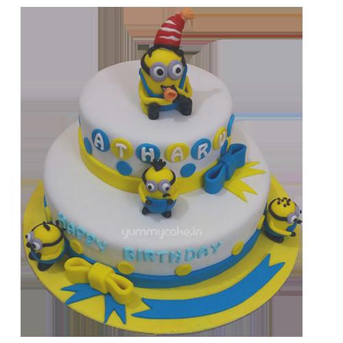 Fine Birthday Minion Cake Online Best Design Doorstepcake Personalised Birthday Cards Veneteletsinfo
