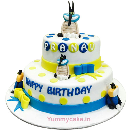 Oggy Birthday Cake