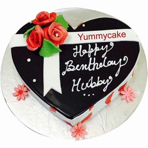 Heart Shaped Birthday Cake