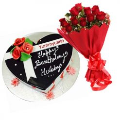 Heart Shaped Birthday cake Combo Offer