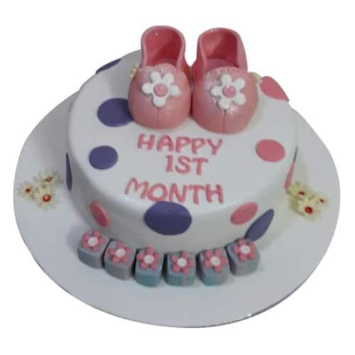 First Month Birthday Cake