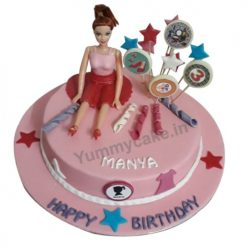 Elegant Barbie Birthday Cake