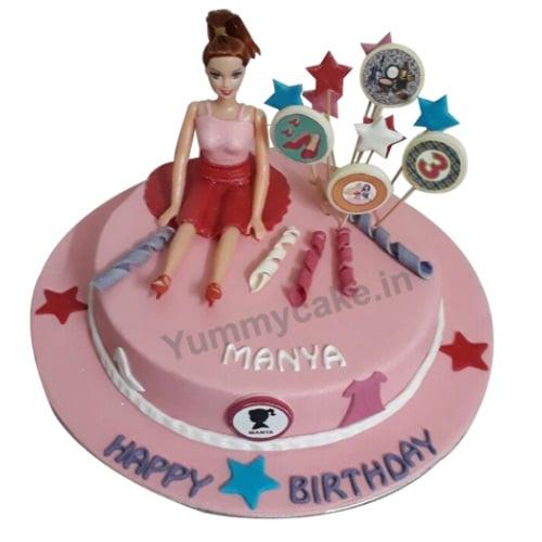Surprising Elegant Barbie Birthday Cake Design Low Price Doorstepcake Funny Birthday Cards Online Alyptdamsfinfo