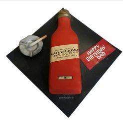 Johnnie Walker Whiskey Bottle Cake