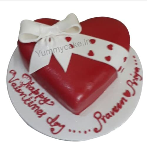 Heart Cake For Anniversary