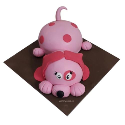 Marvelous Puppy Birthday Cake Online Best Design Doorstepcake Funny Birthday Cards Online Drosicarndamsfinfo