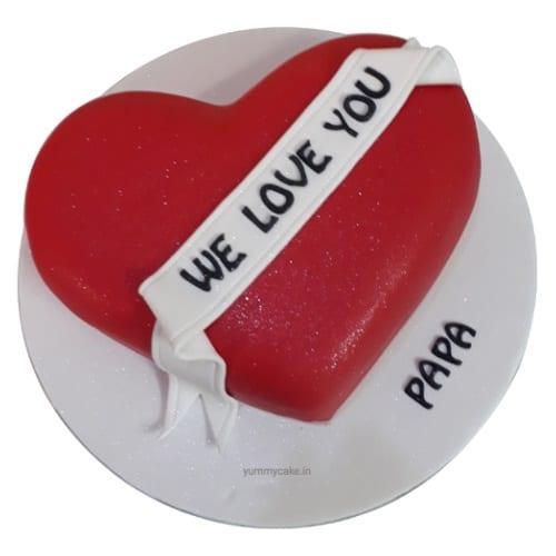 Heart Shaped Cake For Papa