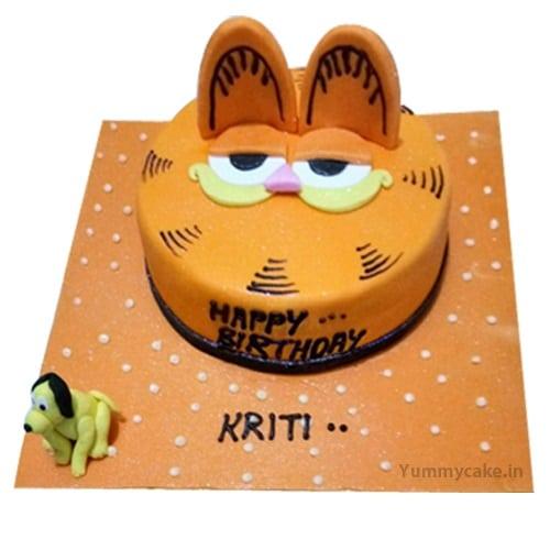 Miraculous Garfield Birthday Cake Online Best Design Doorstepcake Personalised Birthday Cards Veneteletsinfo