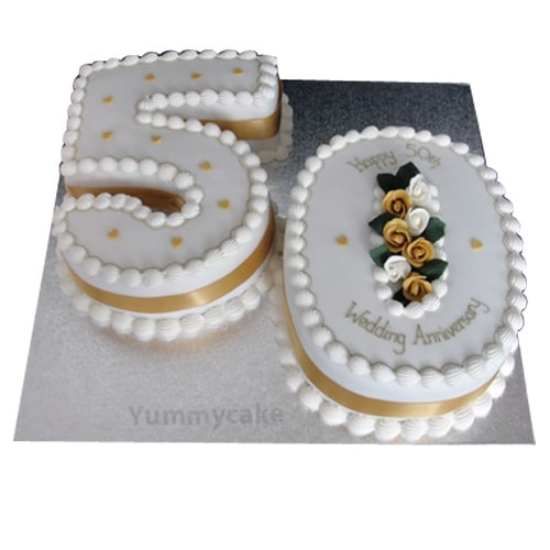 50th Anniversary Cakes