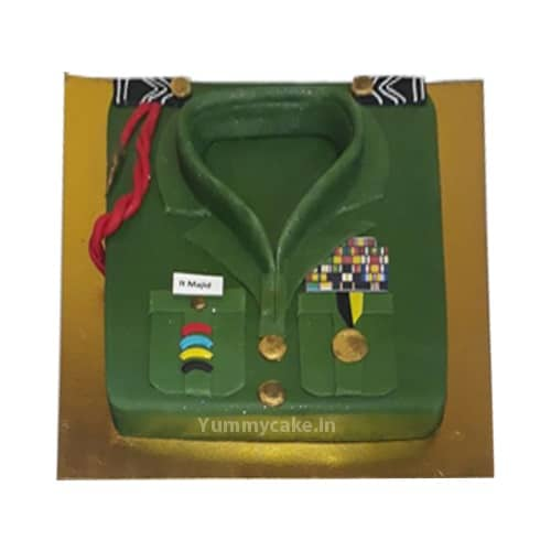 Swell Uniform Birthday Cake Online For Army Officer Doorstepcake Personalised Birthday Cards Paralily Jamesorg
