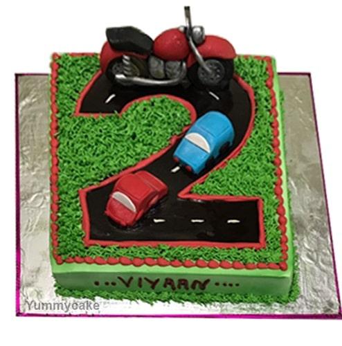 2nd Birthday Cake Design