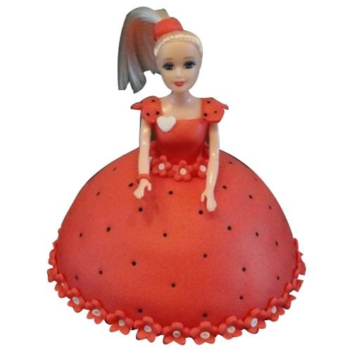 Red Barbie Cake
