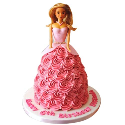 Flamboyant Barbie Cake Design