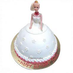 White Barbie Cake Online