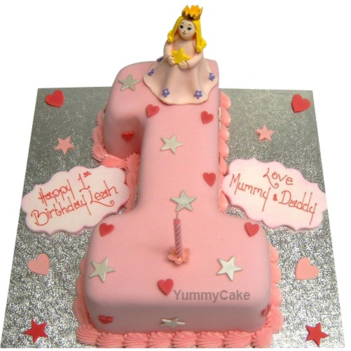 First Birthday Cake for Girl