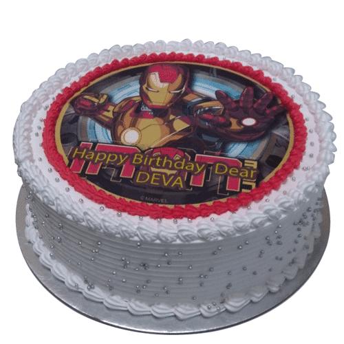 Iron Man Photo Cake
