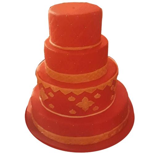 4 Tier Designer Wedding Cake