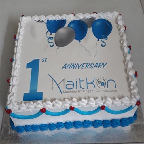 1st Anniversary Photo Cake