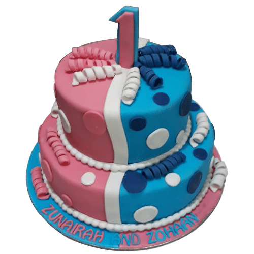 Twins Cake Design For Birthday At Best Price Doorstep Cake