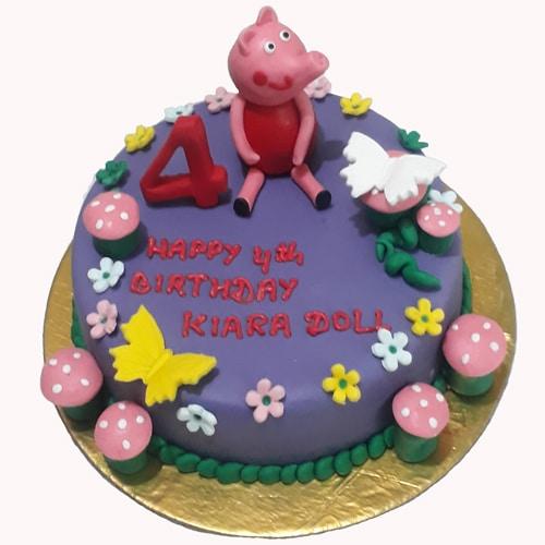 Groovy Peppa Pig Birthday Cake Online For Kids Doorstepcake Personalised Birthday Cards Arneslily Jamesorg