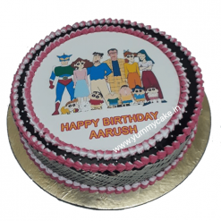 Shinchan Family Photo Cake