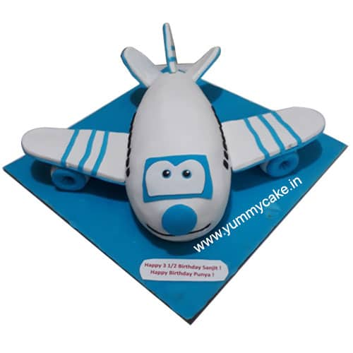 Plane Shaped Birthday Cake