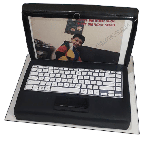 Laptop Theme Birthday Cake