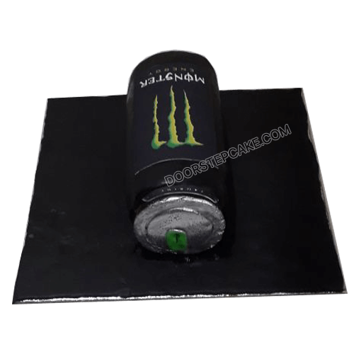 Monster Can Shaped Cake