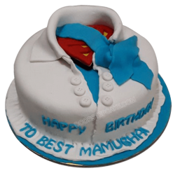 Superman Shirt Cake