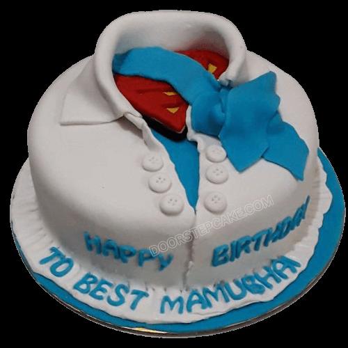 superman shirt cake