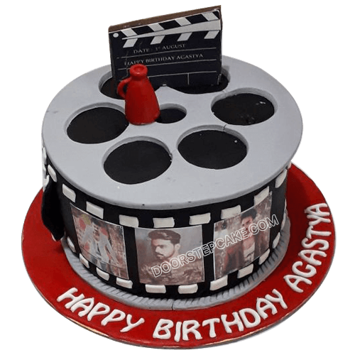 Stupendous Movie Themed Birthday Cake Design For Boys Doorstepcake Personalised Birthday Cards Veneteletsinfo