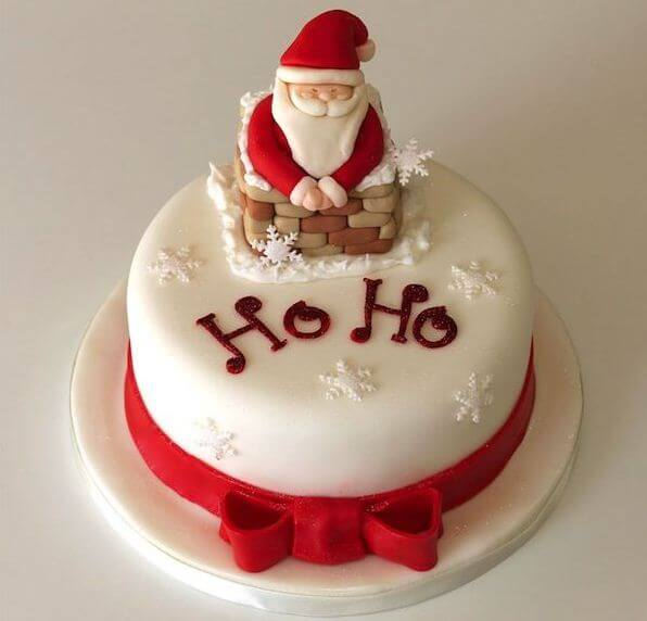 santa cake for christmas
