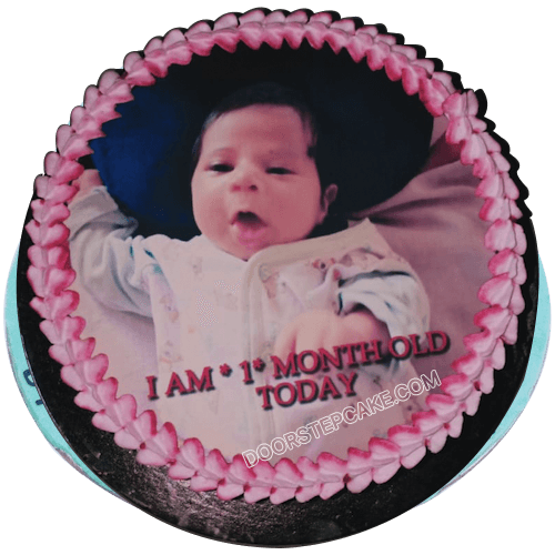 Outstanding 1St Month Birthday Cake For Baby Boy Doorstepcake Funny Birthday Cards Online Barepcheapnameinfo