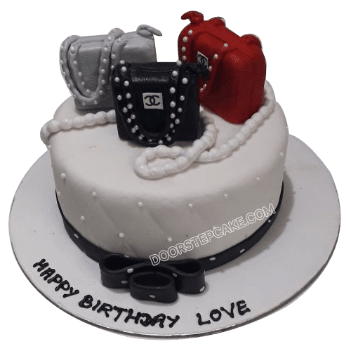 Pleasing Shopping Theme Cake Designs For Girls Birthday In Noida Personalised Birthday Cards Veneteletsinfo