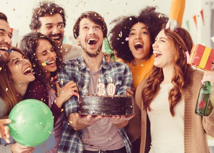 surprise party with friends
